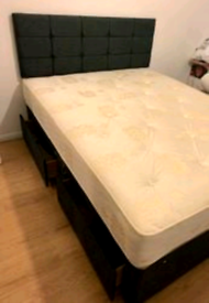 ♥️♥️ LUXURY DIVAN BEDS WITH MATTRESS & HEADBOARD FROM + FREE DELIVERY!