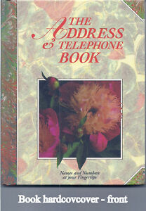 Address & Telephone book. Hardcover, jacket, tabbed