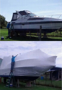 shrink wrapping & winterizing mobile boats from $10 per ft. save Kitchener / Waterloo Kitchener Area image 2