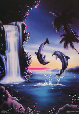 POSTER : ANIMAL : DOLPHIN WATERFALL -  FREE SHIPPING ! #3162   RW17 (Dolphin Waterfall)