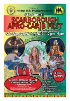 SCARBOROUGH AFRO CARIB FEST VENDORS EARLY BIRD PRICES