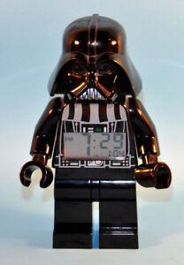 "Big 2010 Lego Star Wars 9"" DARTH VADER Mini Figure Alarm Clock *"