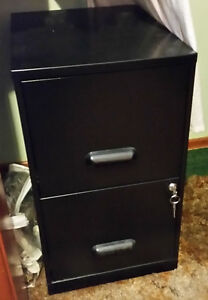 2 Drawer Filing Cabinet with Lock