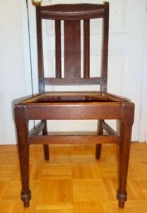 4 ARTS AND CRAFTS OAK CHAIRS 1904-1919 Stratford Chair Co Antique / VINTAGE SEATING / Stickley Era / ART DECO