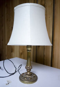 small brass antique lamp