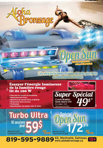Tanning with lotion included ONLY $ 10. BRONZAGE NO CONTRACTS Gatineau Ottawa / Gatineau Area image 5