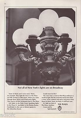 1965 The Plaza Hotel Front Door Lamp Photo vintage ad