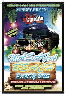 Canada Day Wasaga Beach Party Bus Trip