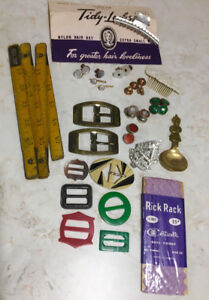 Buckles, collar studs and cuff links