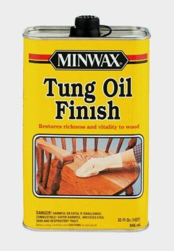 Minwax TUNG OIL 1 qt. Transparent Amber Oil-Based Restore Richness Wood 67500000