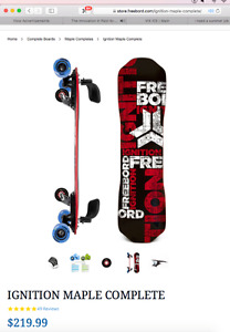 Freeboard skateboard with centre wheel EXTREME DOWNHILL SKATE