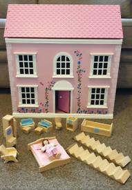 Childrens , Kids, Girls, Wooden Dolls House
