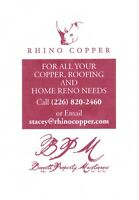 Specialty Roofing (No asphalt or steel)