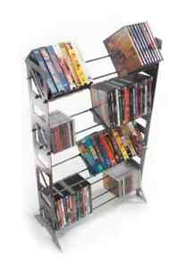 Boltz Steel CD and DVD shelving