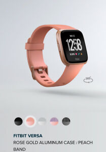 Fitbit Versa rose gold aluminum smart watch