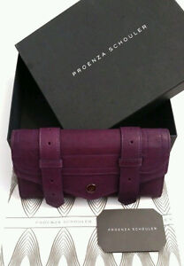 Proenza Schouler PS1 Continental Wallet Clutch Purple Leather