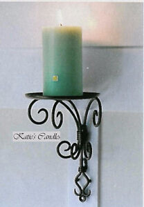 PARTYLITE ANTIQUE BRASS PILLAR SCONCE