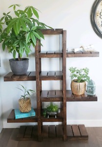 Handmade plant shelf