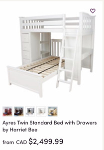 BUNK BED WITH DESK AND DRAWERS. NOT FROM IKEA