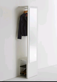 Coat Rack with Mirror and Shoe Tidy