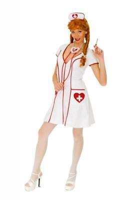 Krankenschwester Kostüm Kleid Nurse Damen Kittel Arzt Krankenhaus OP - Damen Arzt Kostüm