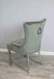 Brand New Grey Plush Knockerback Chair..