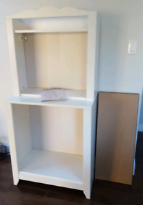 NEW baby/children's shelf unit with removable changing table