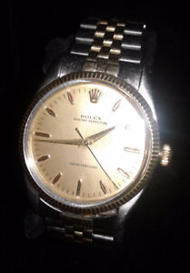 14 kt & as 1958 men's rolex