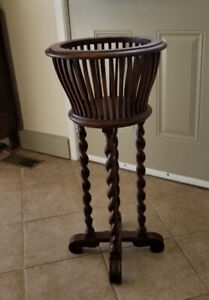 Antique Victorian wooden plant stand