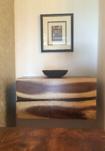Rustic barnboard live edge tables cabinets doors benches