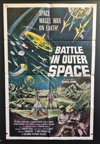 Battle in Outer Space Original Movie Poster Toho Production  *Hollywood Posters*