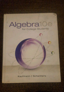 Algebra 10e for college students