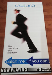 Catch Me If You Can Original Vinyl Movie Poster Banner