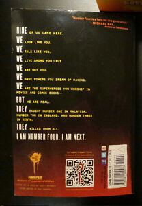 I Am Number Four Novel by Pittacus Lore