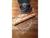 Personalised hand engraved rolling pin