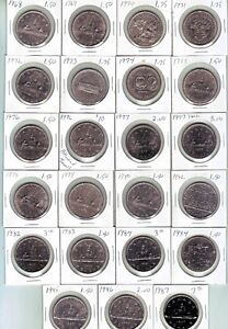 Canada Dollar coins 1968-1987...Complete your set