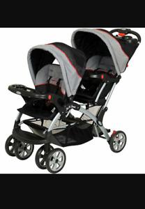 Poussette double baby trend double stroller