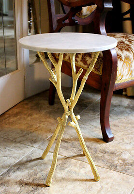 Marble Top Pedestal Table Stand