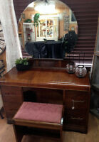 Antique vanity with stool!