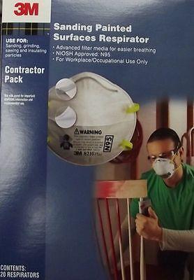 3m 8210 Particulate Sanding Respirator N95 20pcs.