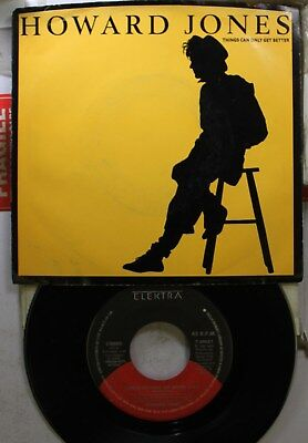 Rock Picture Sleeve 45 Howard Jones - Things Can Only Get Better / Why Look