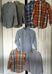 7 Boys Long Sleeve Shirts - Size 7/8 -- $5 Each / $30 For All 7