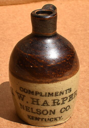 Vintage I.W. Harper Nelson Co Kentucky Miniature Whiskey Advertising Jug