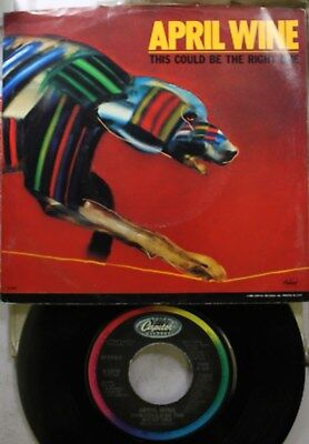 Rock Picture Sleeve 45 April Wine - This Could Be The Right One / Really Don'T (April Wine This Could Be The Right One)