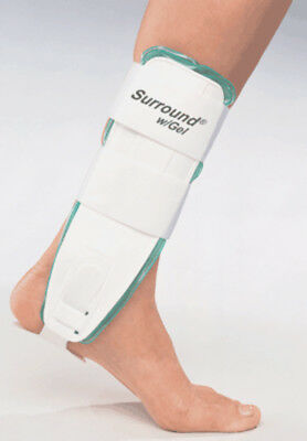 Small -  Air/Gel Ankle Support Brace Splint Guard Cast - FREE SHIP