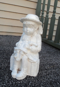Garden Girl Figure with Doll  Sussex