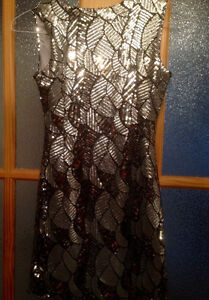 Silver Sequin Dress Size Small