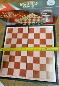 """Magnetic Folding Chess Board Game 14"""" Board Game Kid Children Adult"""