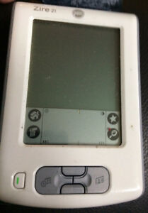 Palm Zire 21  (hand held device)   FOR PARTS ONLY (charger lost)