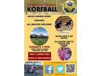 KORFBALL - Try a new mixed sex sport! First 2 sessions FREE at Tyneside Titans Korfball Club